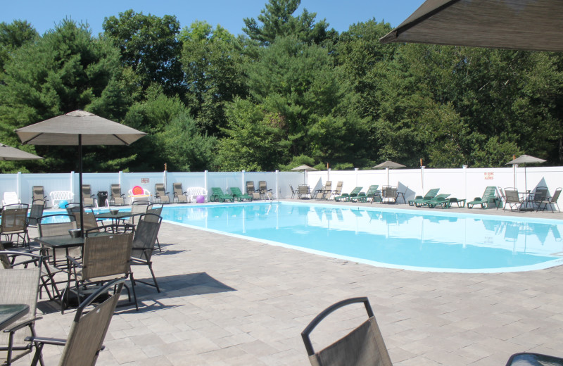 Outdoor pool at Catskill Mountains Resort.