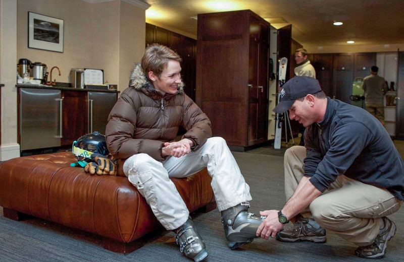 Ski boots fitting at Welcome to Telluride Vacation Rentals.