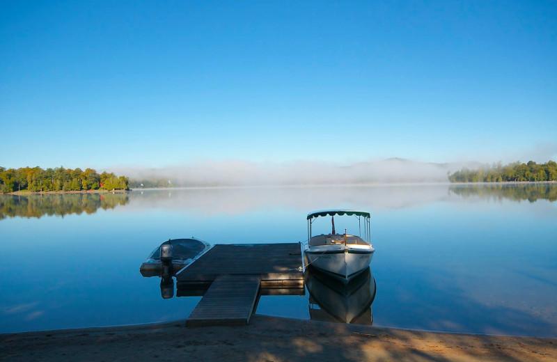Lake view at Sir Sam's Inn and WaterSpa.