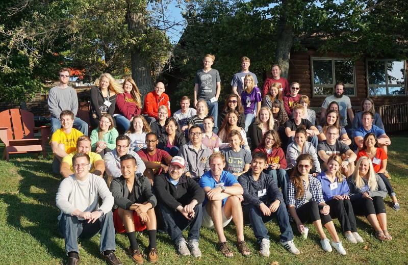 Group at Ruttger's Bay Lake Lodge.
