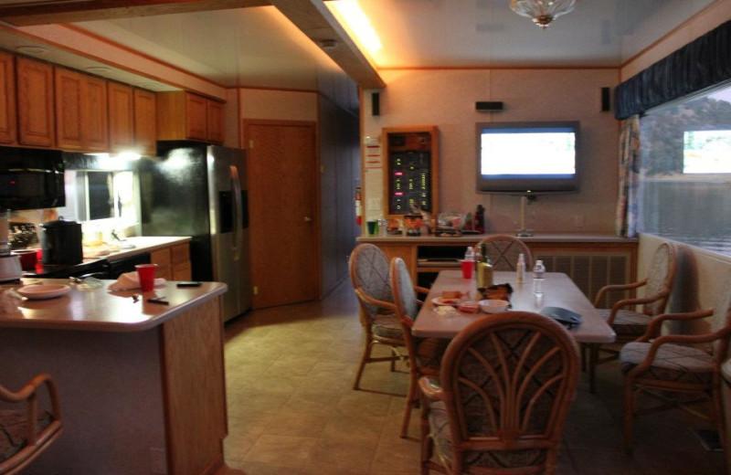 Houseboat interior at Pleasure Cove.