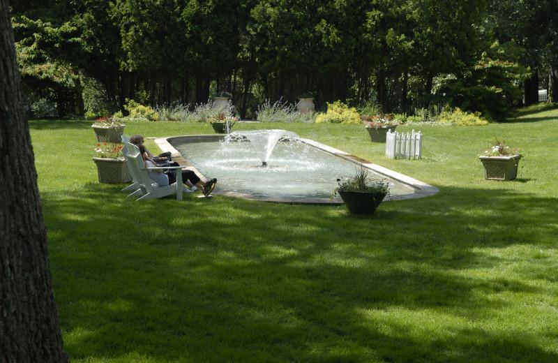 Fountain at The Spa at Norwich Inn.