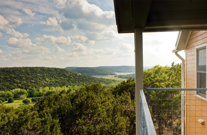 Deck view at Travaasa Austin.