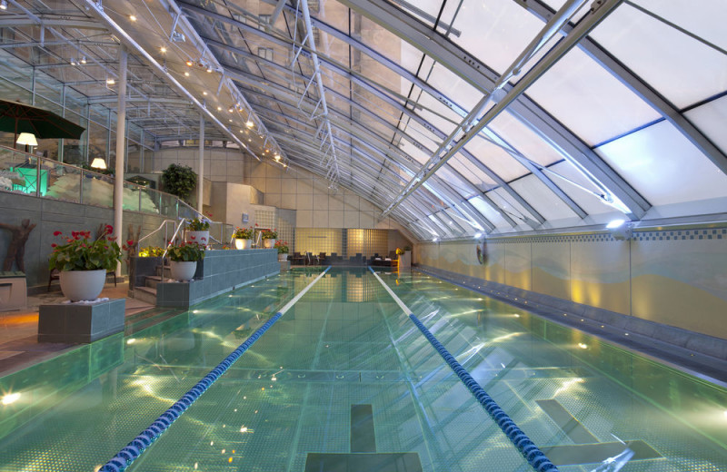 Indoor pool at Jumeirah Carlton Tower.