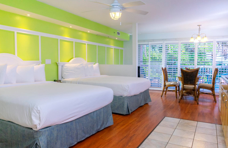 Guest room at Lighthouse Resort Inn & Suites.