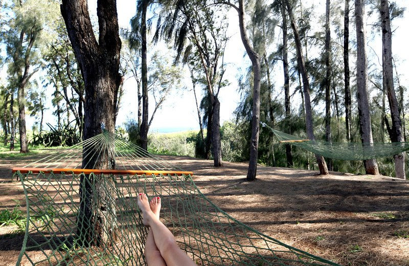 Relax in the hammocks at Lumeria Maui.