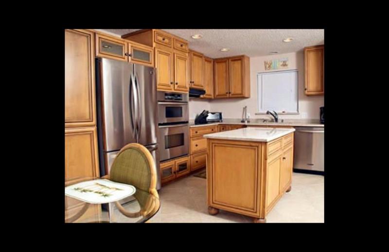 Vacation rental kitchen at Crescent Royale Condominiums.