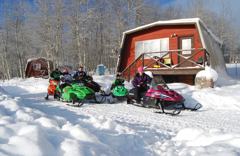 Snowmobiling at The Drift Lodge.