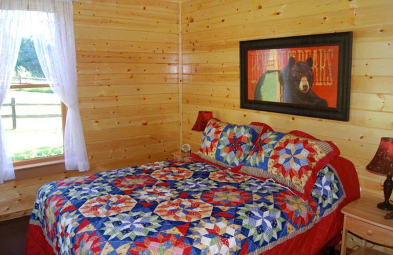 Guest room at Newton Fork Ranch.