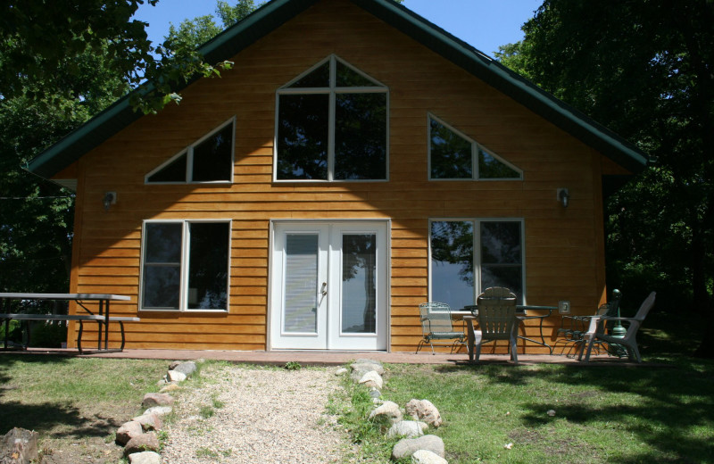 Cabin exterior at Ten Mile Lake Resort.