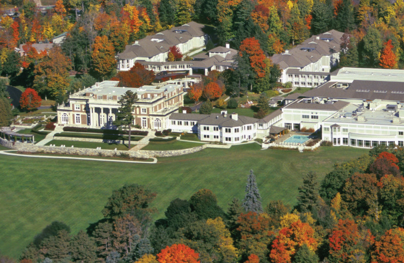 Aerial view of Canyon Ranch in Lenox.