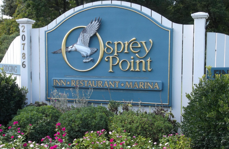 Welcome sign at Osprey Point.