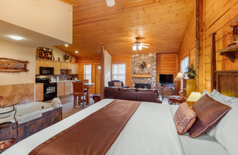 Cabin interior at Thousand Hills Golf Resort.