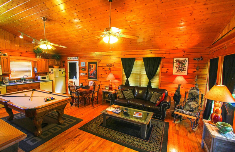 Cabin interior at Aunt Bug's Cabin Rentals, LLC.
