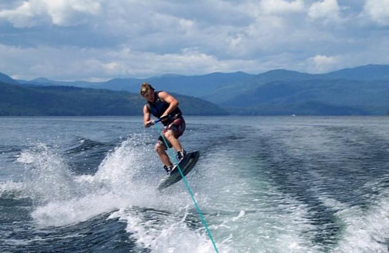 Water skiing at Blue Diamond Marina & Resort.