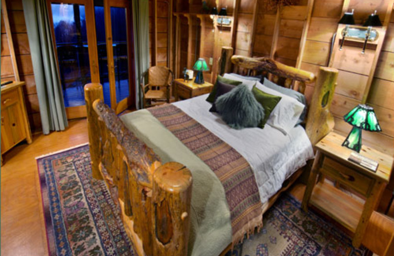Cottage bedroom at Winterwood Lakeside Cottage.