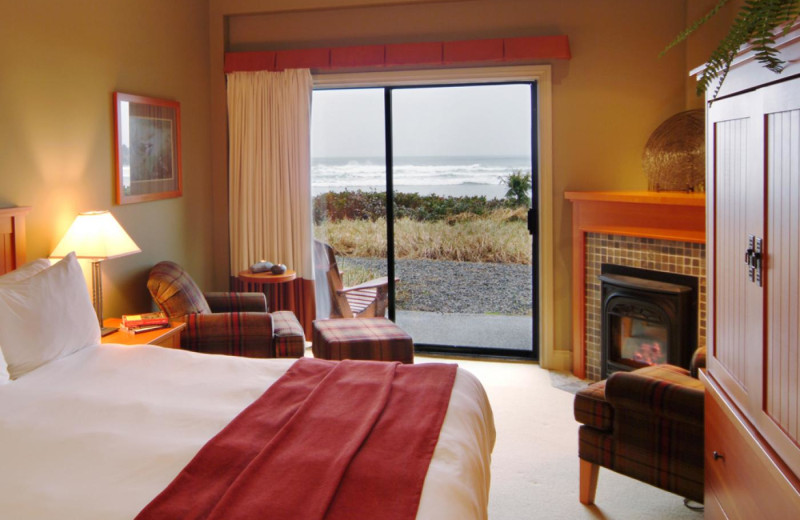 Guest room at Long Beach Lodge Resort.