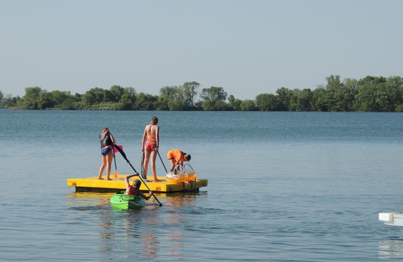 Lake activities at Barrett Lake Resort.