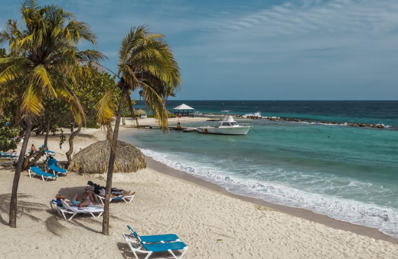 Beach at Floris Suite Hotel Curacao.