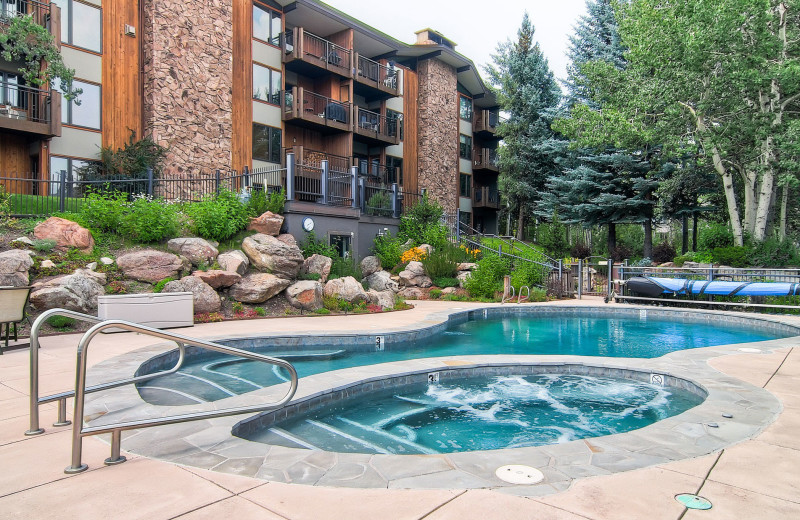 Outdoor pool at Shadowbrook Property Management.