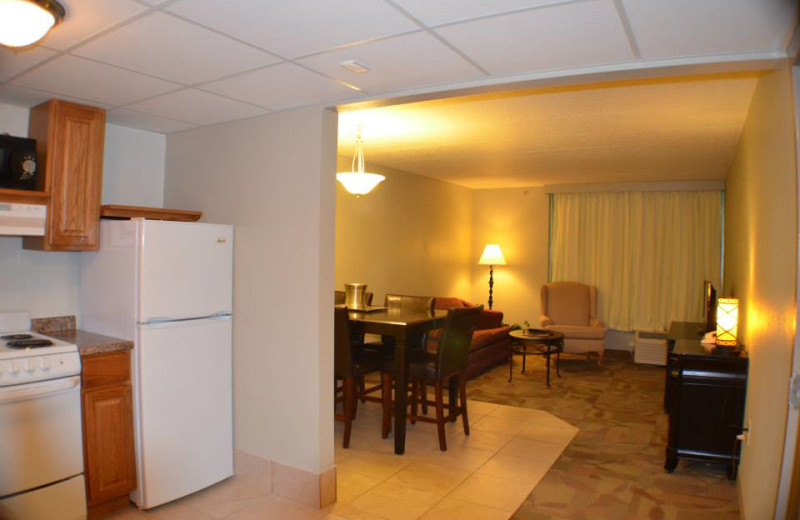 Kitchen suite at Ambers Resort and Conference Center.