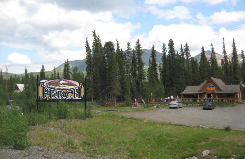 Exterior view of Denali Perch Resort.