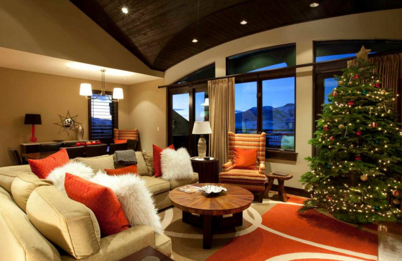 Guest living room at Lumiere Telluride.