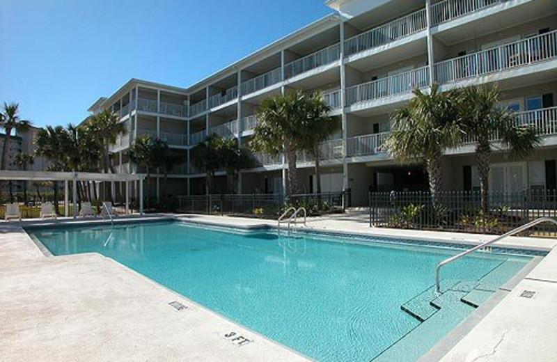 Exterior Pool View at Meyer Vacation Rentals