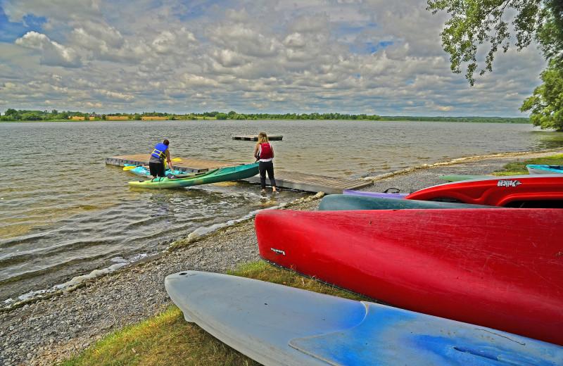 Kayaking at Sandbanks Summer Village Cottage Resort.