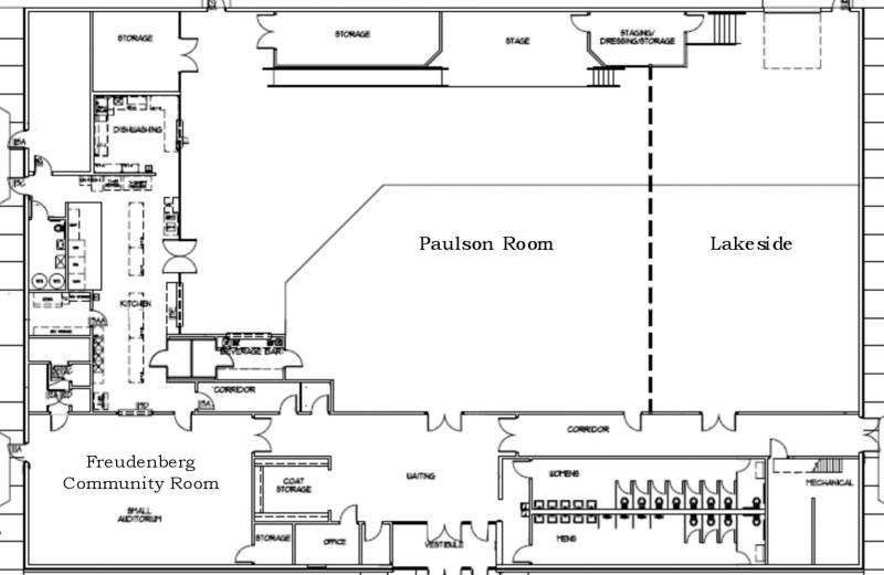 Meeting room plans at GrandStay Parkers Prairie.