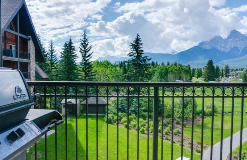 Balcony view at Grande Rockies Resort.