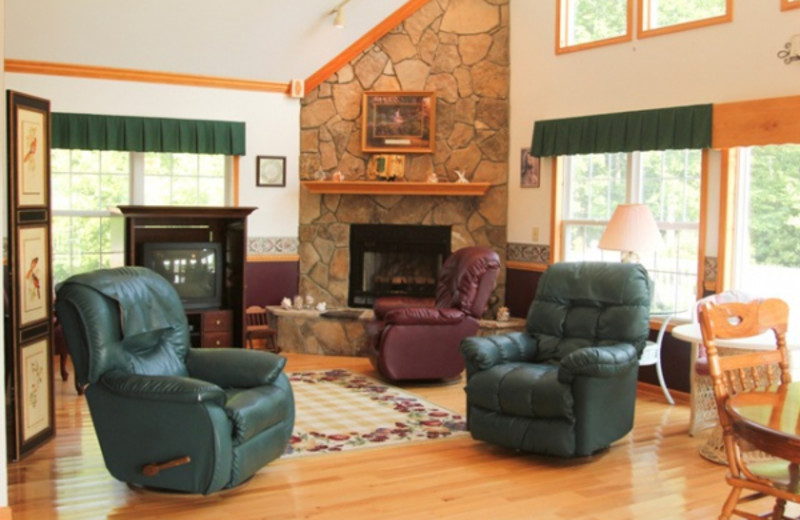 Vacation home living room at Paradise Hills Resort and Spa.