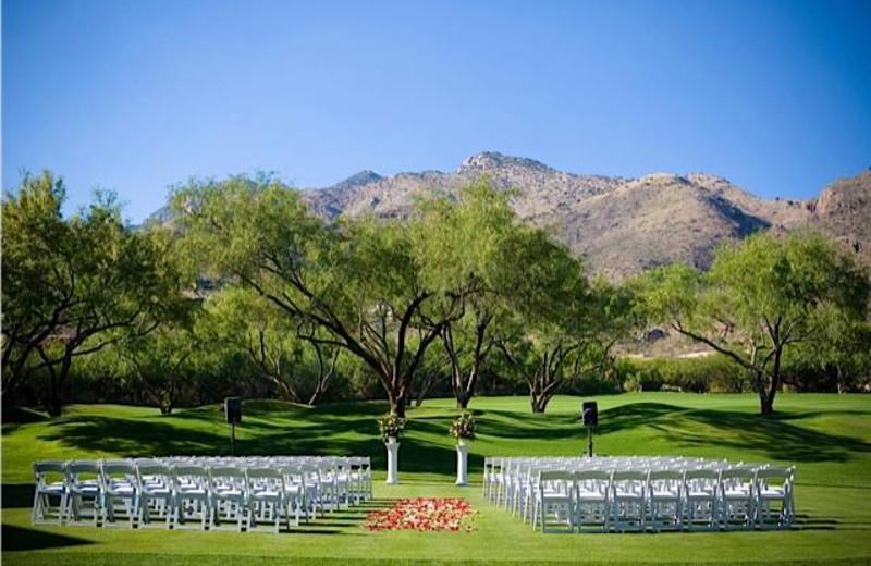 Outdoor wedding at The Lodge at Ventana Canyon.