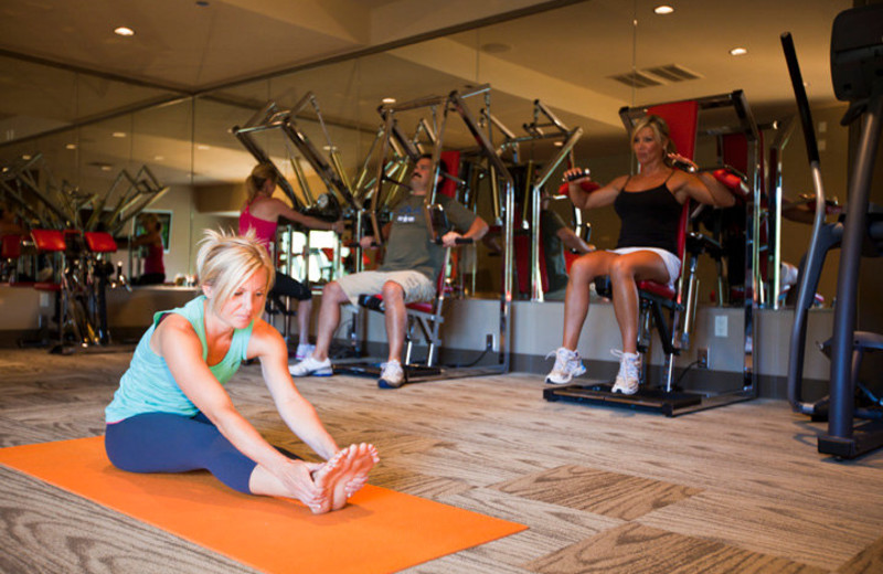 Fitness center at The Resort at the Mountain.