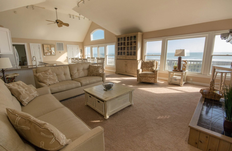 Rental living room at Beach Realty & Construction.