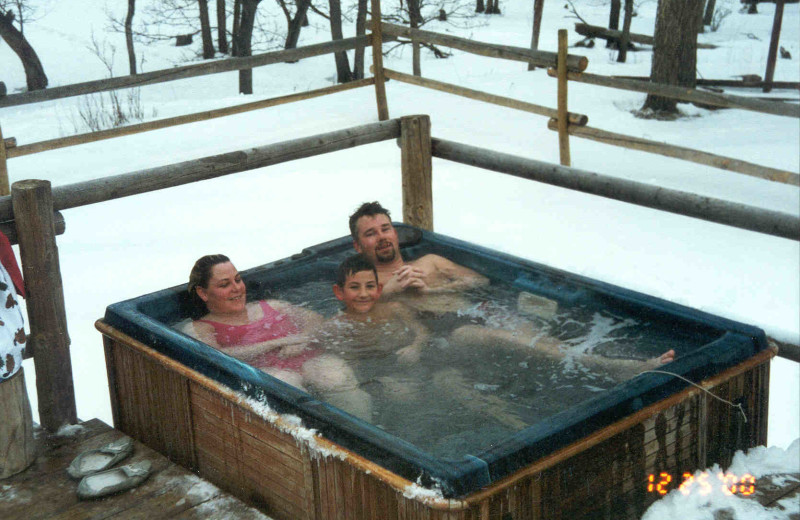 Hot tub at Lone Butte Ranch.