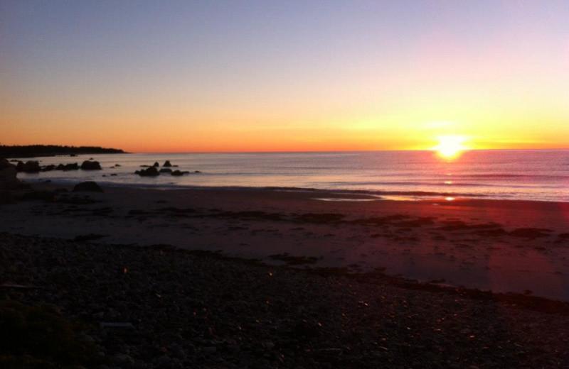 Sunset on the Beach at White Point Beach Resort