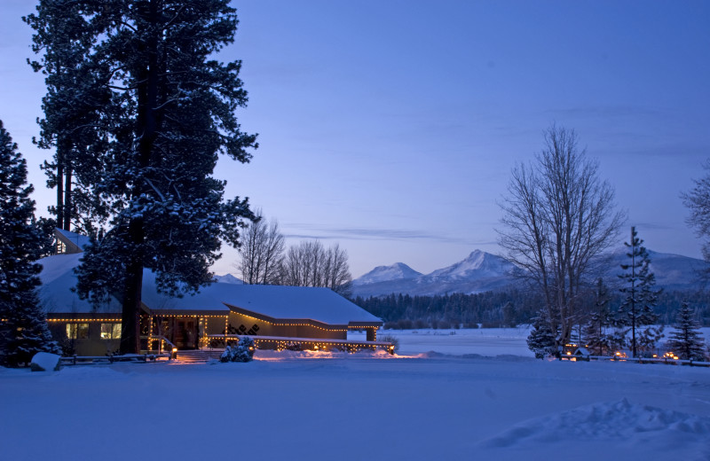 Winter at Black Butte Ranch.