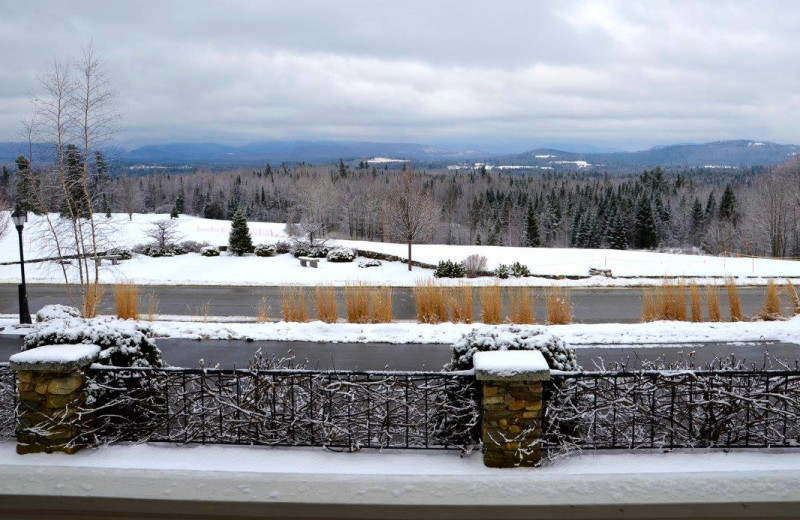 Winter view at Mountain View Grand Resort & Spa.