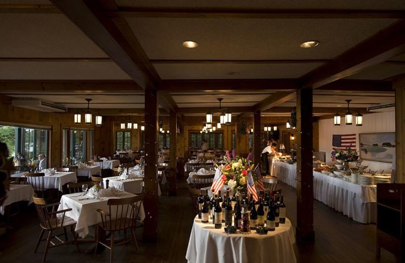 Dining at Migis Lodge.