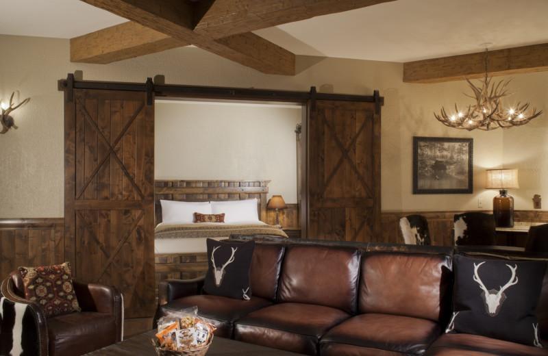 Guest room at Big Cypress Lodge.