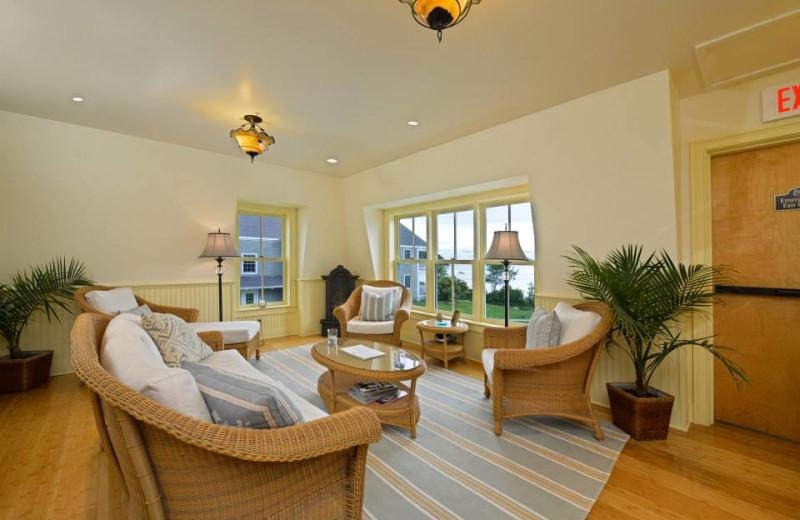 Spa lounge at Bar Harbor Inn & Spa.
