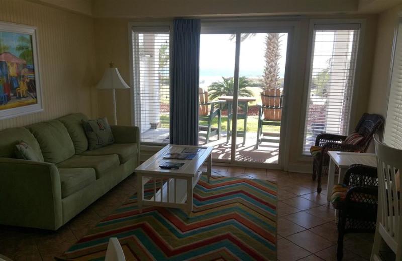 Guest living room at Islander Hotel & Resort.