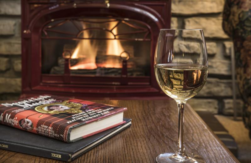 Guest fireplace at Glenlaurel, A Scottish Inn & Cottages.