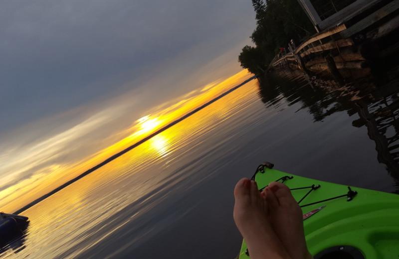 Kayaking at Krueger's Harmony Beach Resort.