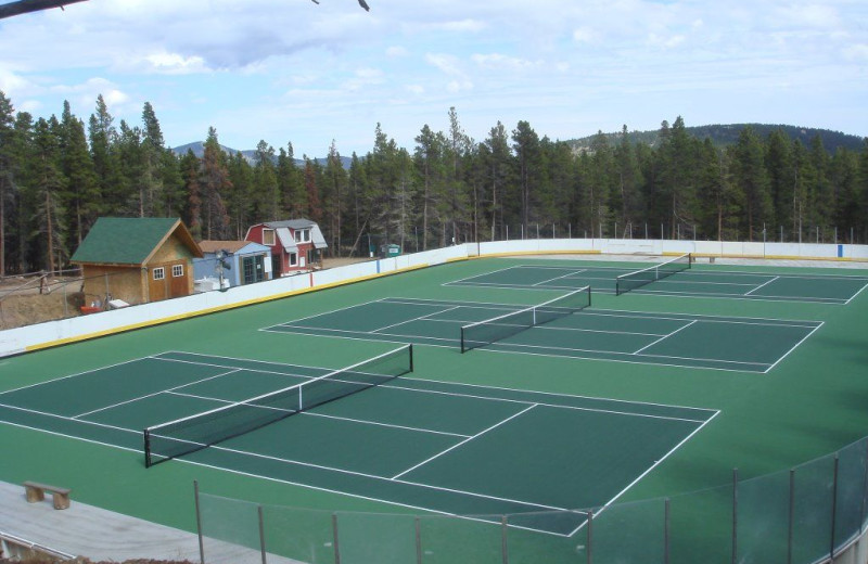 Tennis court at SkyRun Vacation Rentals - Nederland, Colorado.