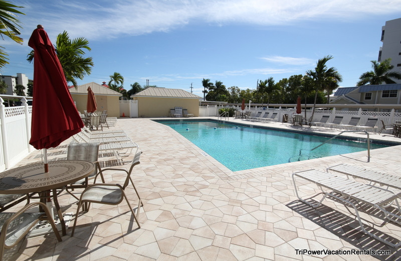 Vacation rental pool at Tri Power Resort Rentals.
