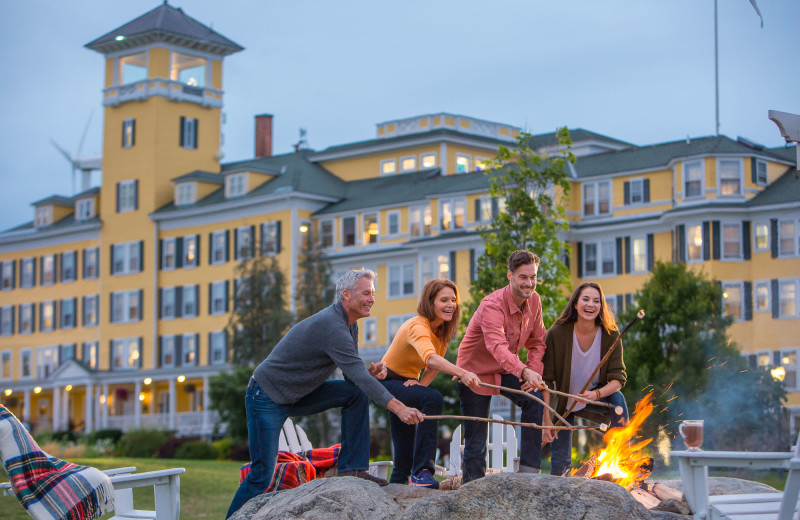 Roasting marshmallows at Mountain View Grand Resort.