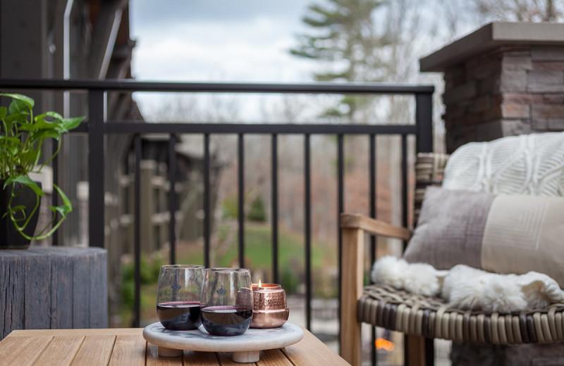 Deck at The Lodge at Woodloch.
