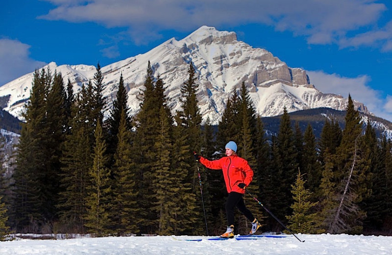 Skiing at Charlton's Banff.